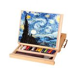 Acheter Multifunction Paintings Easel Artist Desk Easel Portable Miniature Desk Light Weight Folding Easel For Storage Or During Trips