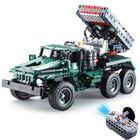 Acheter au meilleur prix CaDA C61001 C61002 1/20 2.4G DIY Building Block BM21 Rocket Launcher RC Car M1A2 Tank without Battery