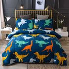 Acheter au meilleur prix 3 PCS Bedding Sets Cartoon Dinosaur Printing Quilt Cover Pillowcase For Queen Size