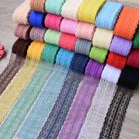 10 Yards 4.5cm Multi-Color Lace Wide Ribbon DIY Crafts Sewing Clothing Materials Gift Wedding Lace Closure