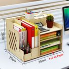 Meilleurs prix Large Wooden Storage Box File Holder Office Pen Book Desktop Organizer Storage Box with Drawer Stationary Container