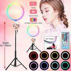 Offres Flash 13 inch 6500K LED Ring Light Dimmable Selfie Photo Lamp Phone Holder for Make Up Live Studio