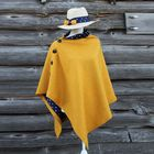 Meilleurs prix Yellow Polka Dot Harris Tweed Cape Women Shawl