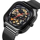 Meilleurs prix SKMEI 9184 Fashion Men Automatic Watch Waterproof Hollow Art Stainless Steel Strap Mechanical Watch