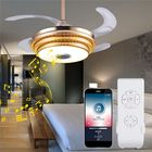 Wholesale Price Modern Dimmable Ceiling LED Fan Lamp Bluetooth Speaker LED Chandelier Light+Remote