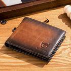 Les plus populaires Men Genuine Leather Vintager RFID Blocking Wallet