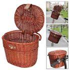 Acheter au meilleur prix Vintage Willow Wicker Bike Front Basket Box Handlebar For Shopping Camping Pet Fruit Bicycle Box
