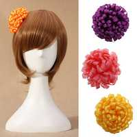Satin Ribbon Pure Color Simple Sweet Designed Flower Brooch Hairpin