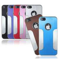 Luxury Aluminum Brushed Chrome Hard Case For iPhone 5
