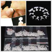 500x White French False Acrylic 3D Nail Art Tips Decoration