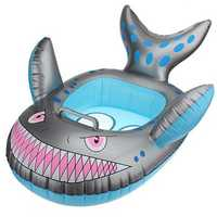 Baby Kids Grey Shark Shape Inflatable Swimming Pool Seat Ring