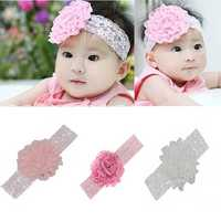 Little Baby Big Flower Hair Ornament Children Bud Silk Hair Band Accessories