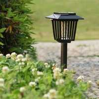 Solar Powered Mosquito Pest Zapper Lantern LED Lamp Light