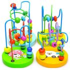Offres Flash Baby Wooden Toy Mini Around Beads Wire Maze Educational Game Bauble
