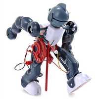 Cute Sunlight DIY Electric Tumbling Robot 3-Mode Assembly Robot for Children