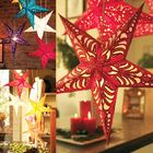 Cheap Discount 30cm Christmas Laser Star Lampshade Hanging Pentagram Ornaments