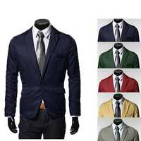Mens Casual Slim Fit One Button Suits Blazers