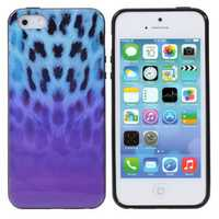 Color Leopard Grain Pattern TPU Defender Soft Case For iPhone5 5S