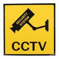 12 x 12cm Monitoring Security Cameras CCTV Warning Sign