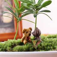 DIY Miniature Cute Bear Ornaments Potted Plant Garden Decor