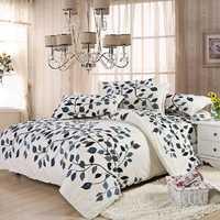 4pcs Suit Polyester Fiber Fastness Simple Style Bedding Sets