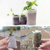 Honana HG-GP 100pcs Non-woven Fabrics Plants Seedling Bags Degradable Breeding Bag