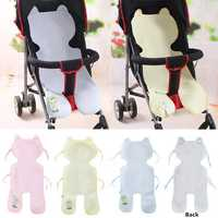 Baby Kids Bamboo Fiber Waterproof Seat Pad Stroller Pram Mat Liner Mesh Car Cushion