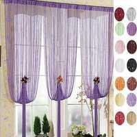 100x200cm Silver Line Curtain Window Balcony String Curtain Home Decor
