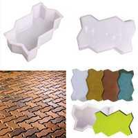 2pcs Wave Shape Garden DIY Walking Path Maker Cement Brick Mold