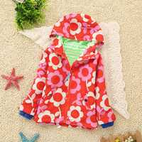 BEINGQ Baby Kid Girl Printed Long Sleeve Hoddy Coat Outerwear Jackets Aged 2-8Y