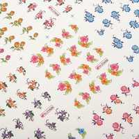 3D Flower Cartoon Pattern Nail Toes Sticker Nail Art Decoration