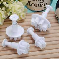 4X Daisy Sugarcraft Cake Decorating Cutter Tool Plunger