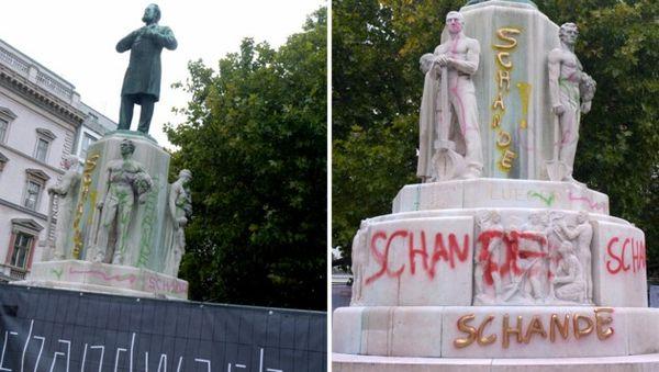 Lueger-Denkmal: Proteste gegen Graffiti-Entfernung