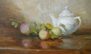 Stillleben mit Apfelast