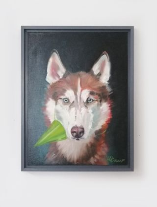 Tierportrait IV Husky