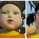 Грим идея за Хелоуин: Куклата убиец от сериала Squid game