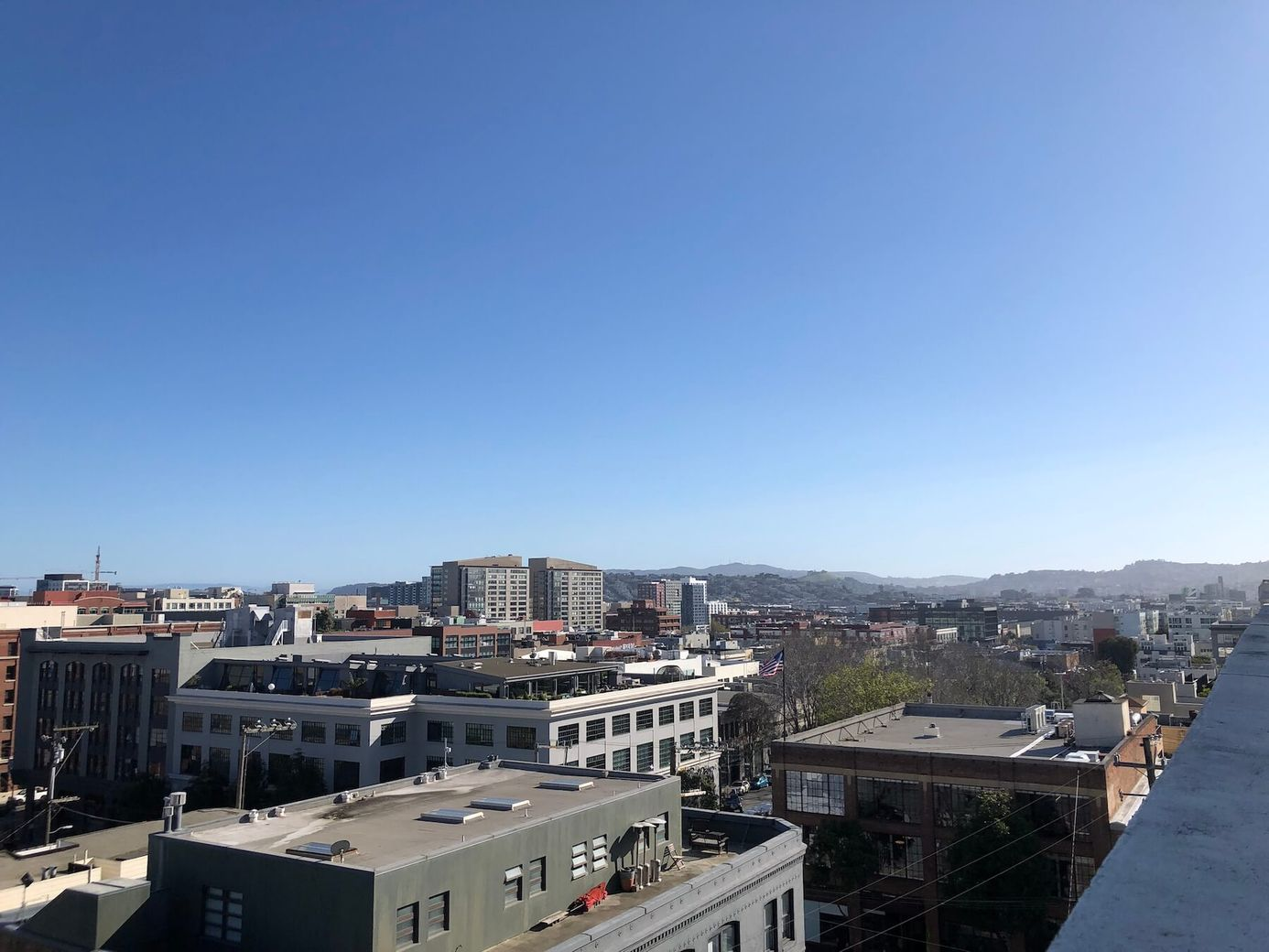 The view from Spoke's rooftop