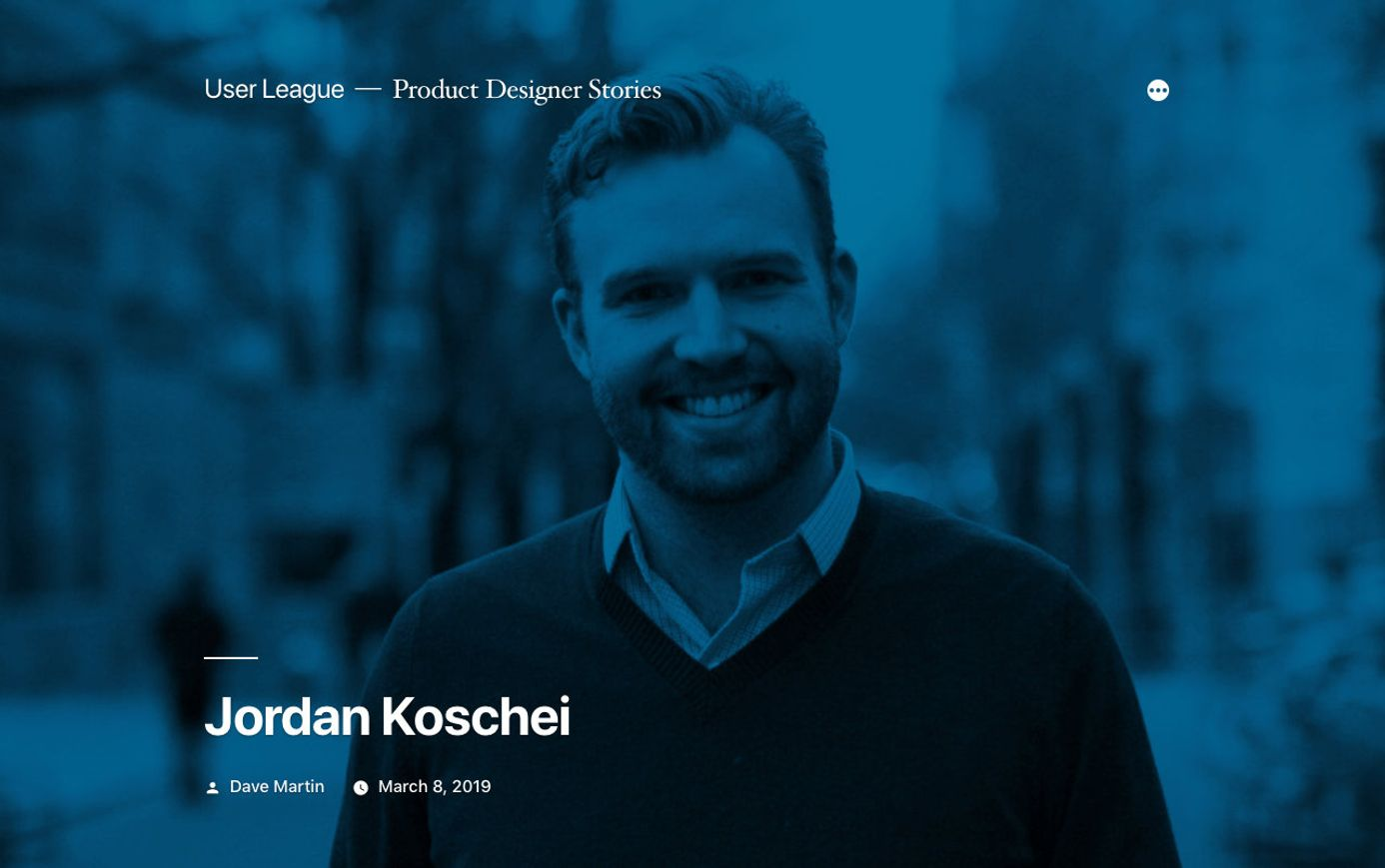 Jordan Koschei on User League