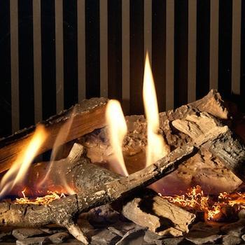 Keramische houtstammenset