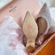 開箱喇!❤ 心心眼的Disney公主婚鞋~ 4百幾的高CP❤