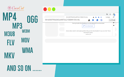 CoCoCut – 支持下载 M3U、M3U8 等串流视频及在线录制的免费插件〔Chrome、Edge〕