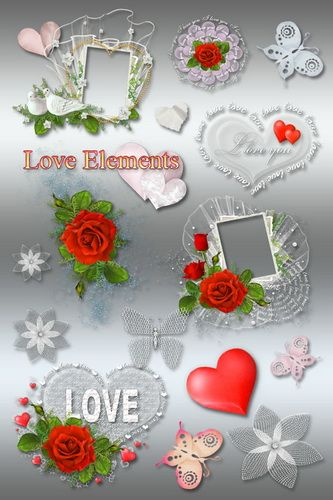 Clipart - Love Elements