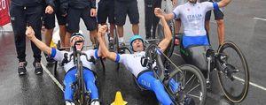 Cecchetto d'oro a Tokyo  nella staffetta di ciclismo