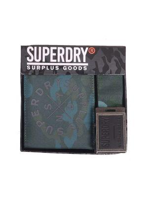 SUPERDRY ΣΕΤ ΖΩΝΗ ΠΟΡΤΟΦΟΛΙ M98010CP ΚΑΦΕ
