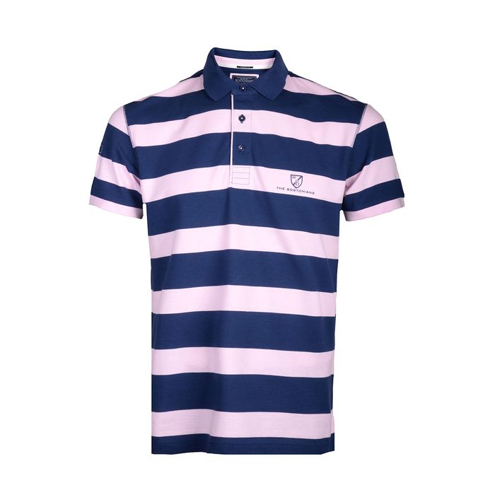 THE BOSTONIANS Μπλούζα Polo 3PS4434-B00028 ΜΠΛΕ ΡΙΓΕ
