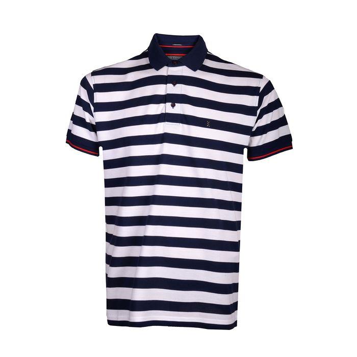 THE BOSTONIANS Μπλούζα Polo 3PS4428-B00166 ΡΙΓΕ ΜΠΛΕ