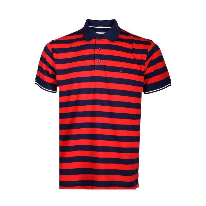 THE BOSTONIANS Μπλούζα Polo 3PS4428-B00595 ΡΙΓΕ ΚΟΚΚΙΝΟ