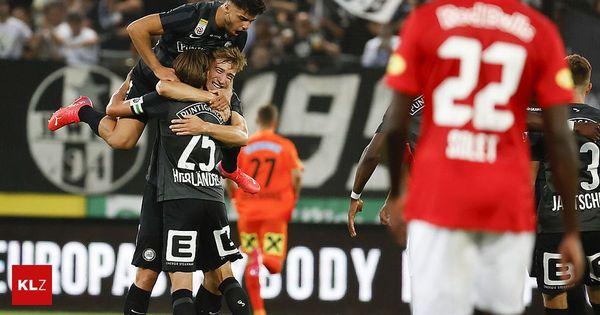 Sturm - Salzburg 1:0: Auch die Bullen treffen die Latte
