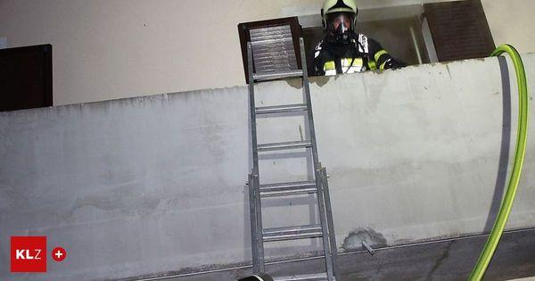 13-Jährige leicht verletzt: Brand im 1. Stock: Vater rettete Kinder über Leiter vom Balkon