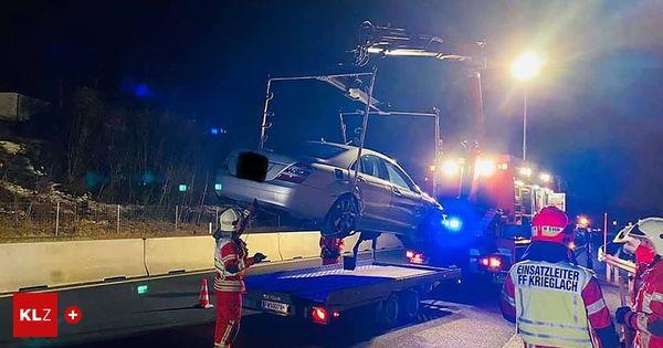 Unfall auf der S 6: Pkw-Lenker verlor die Kontrolle und prallte gegen die Leitschiene